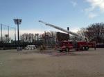 厚木基地所属の消防車も参加した演技